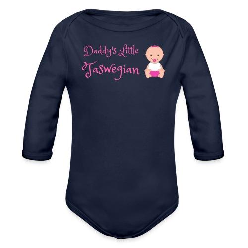 Daddys Little Taswegian Girls - Organic Long Sleeve Baby Bodysuit