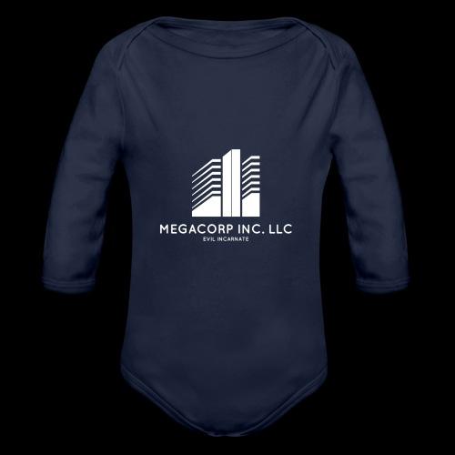 MEGACORP - GIANT EVUL CORPORATION - Organic Long Sleeve Baby Bodysuit