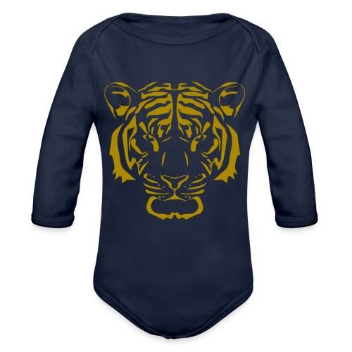 Tiger head - Organic Long Sleeve Baby Bodysuit