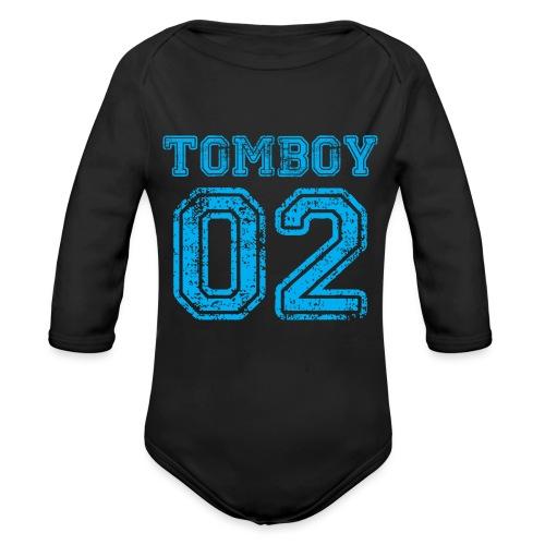 Tomboy02 png - Organic Long Sleeve Baby Bodysuit