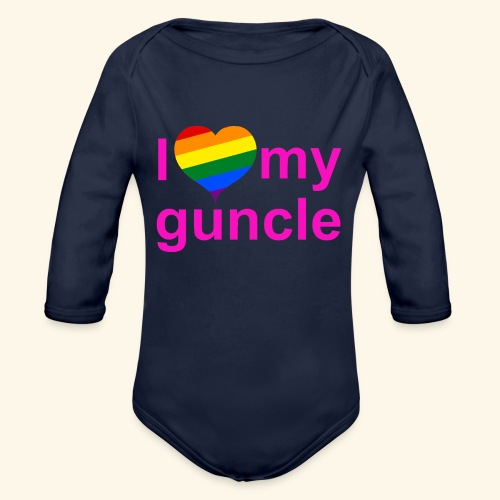 I love my guncle - Organic Long Sleeve Baby Bodysuit