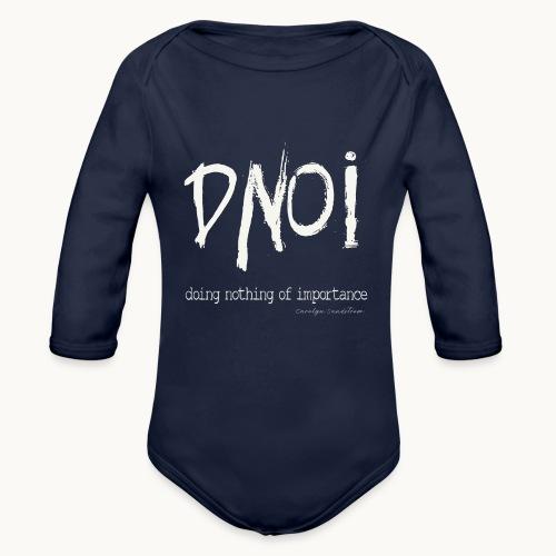 DNOI GRUNGE Carolyn Sandstrom WT TEXT - Organic Long Sleeve Baby Bodysuit
