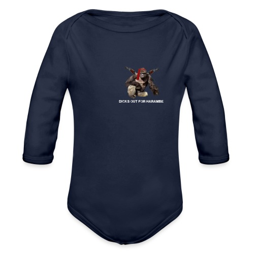 dicks out for harambe - Organic Long Sleeve Baby Bodysuit