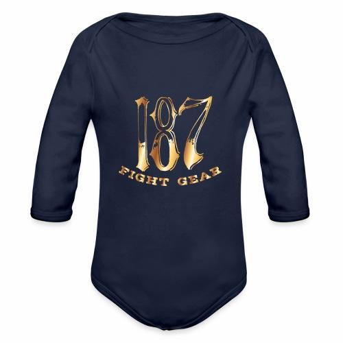 187 Fight Gear Gold Logo Street Wear - Organic Long Sleeve Baby Bodysuit