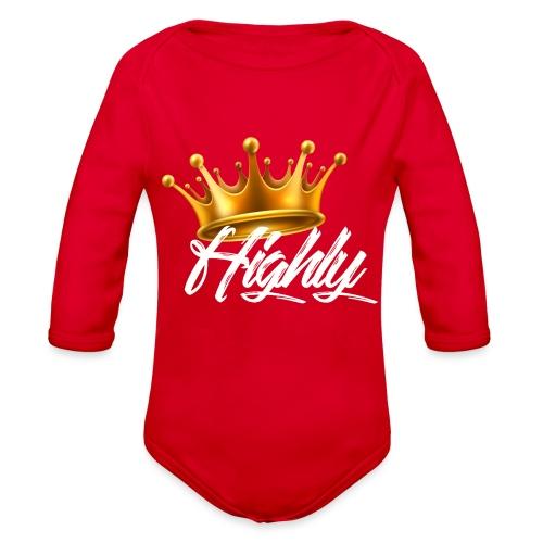 Highly Crown Print - Organic Long Sleeve Baby Bodysuit