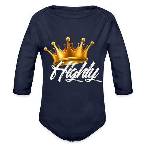 Highly Crown Print - Organic Long Sleeve Baby Bodysuit