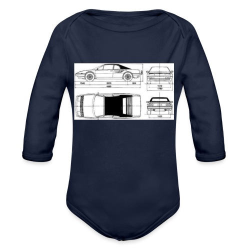artists rendering - Organic Long Sleeve Baby Bodysuit