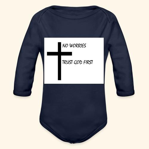 No Worries - Organic Long Sleeve Baby Bodysuit