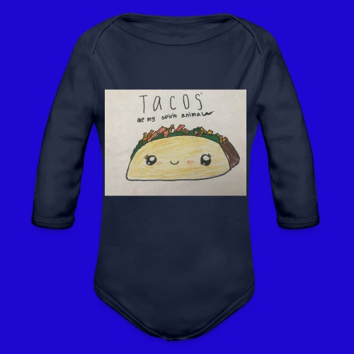Tacos are my Spirit Animal - Organic Long Sleeve Baby Bodysuit