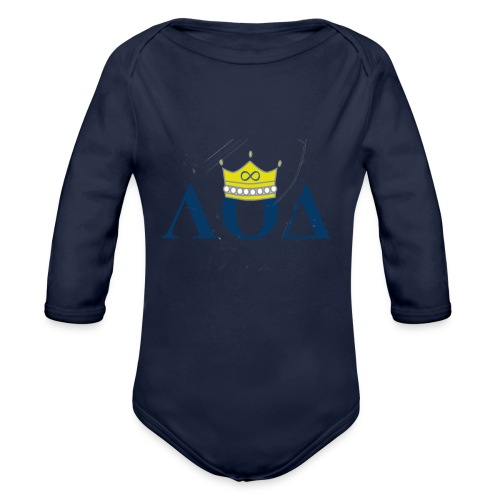 Crown Letters - Organic Long Sleeve Baby Bodysuit