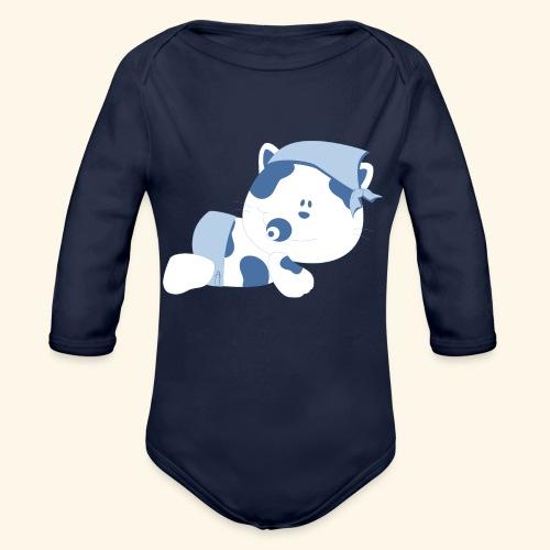 baby cow - Organic Long Sleeve Baby Bodysuit