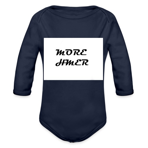 MORE HMER - Organic Long Sleeve Baby Bodysuit