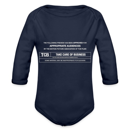 TCB Films Disclamer - Organic Long Sleeve Baby Bodysuit