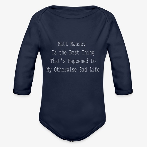 Matt Massey Best Thing T Shirt - Organic Long Sleeve Baby Bodysuit