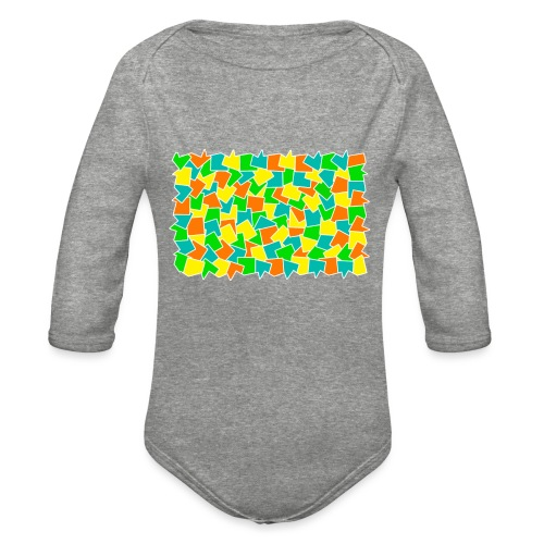 Dynamic movement - Organic Long Sleeve Baby Bodysuit
