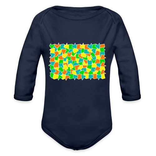 Dynamic movement - Organic Long Sleeve Baby Bodysuit