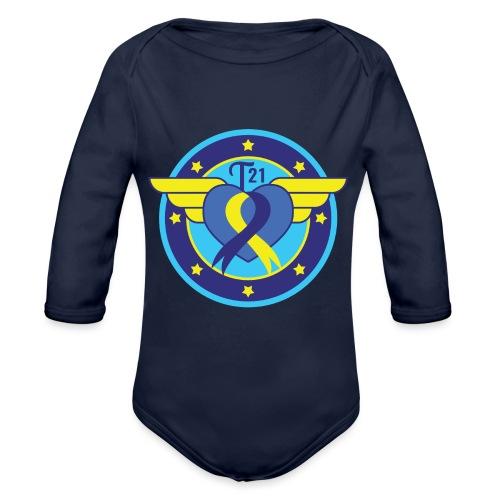 Down syndrome Hero - Organic Long Sleeve Baby Bodysuit