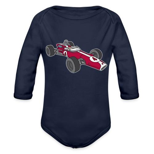 Red racing car, racecar, sportscar - Organic Long Sleeve Baby Bodysuit