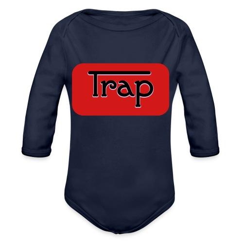 Trap - Organic Long Sleeve Baby Bodysuit