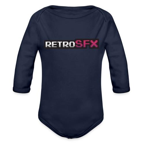 RetroSFX logo - Organic Long Sleeve Baby Bodysuit