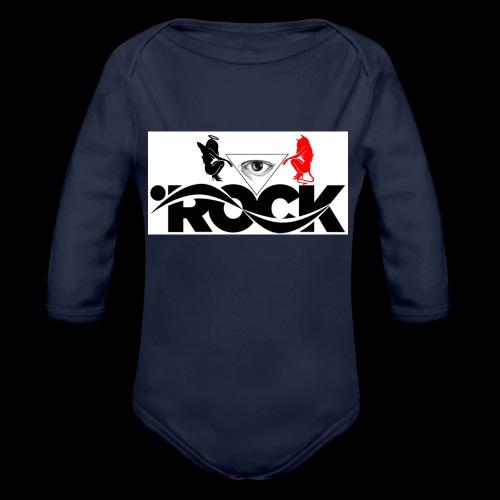 Eye Rock Devil Design - Organic Long Sleeve Baby Bodysuit