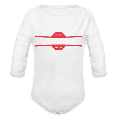 White on Black Lauzon MMA Logo w No Words - Organic Long Sleeve Baby Bodysuit