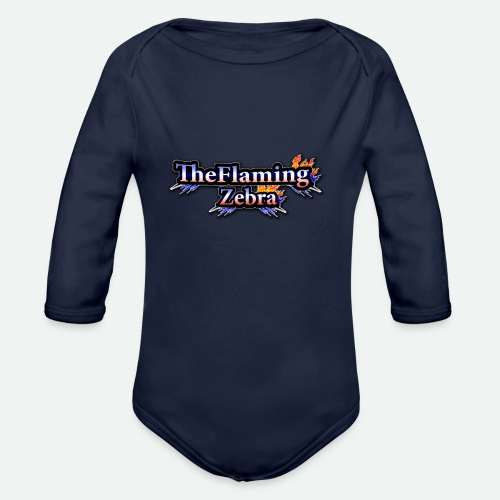 BIG TheFlamingZebra Logo - Organic Long Sleeve Baby Bodysuit