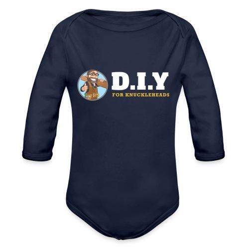 DIY For Knuckleheads Logo. - Organic Long Sleeve Baby Bodysuit