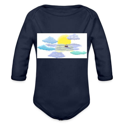 Sea of Clouds - Organic Long Sleeve Baby Bodysuit