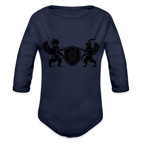 Iran lion & griffin - Organic Long Sleeve Baby Bodysuit