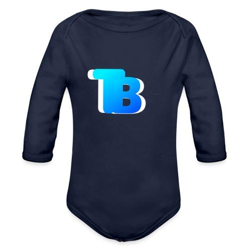 Trublu Overlapping letter Design - Organic Long Sleeve Baby Bodysuit