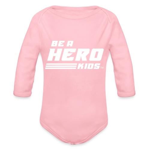 BHK secondary white TM - Organic Long Sleeve Baby Bodysuit