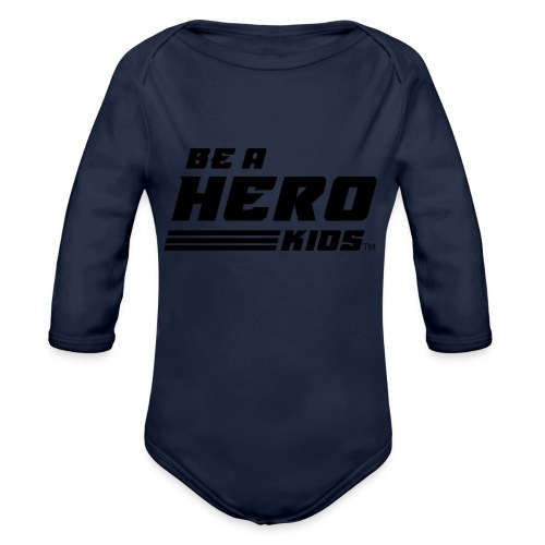 BHK secondary black TM - Organic Long Sleeve Baby Bodysuit