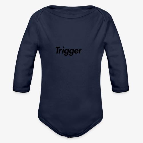 Black Trigger - Organic Long Sleeve Baby Bodysuit