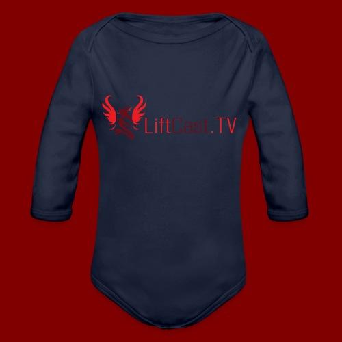 Horizontal for Light Clothing - Organic Long Sleeve Baby Bodysuit