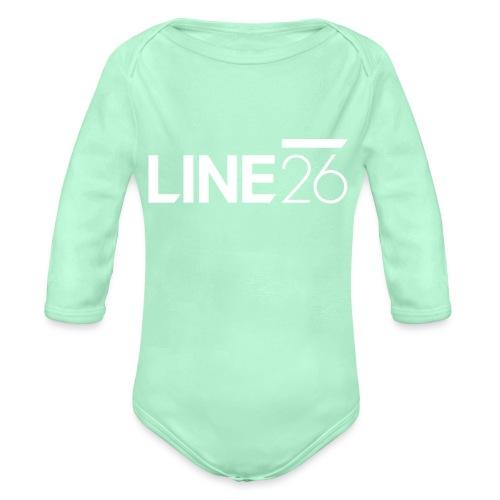 Line26 Logo (Light Version) - Organic Long Sleeve Baby Bodysuit