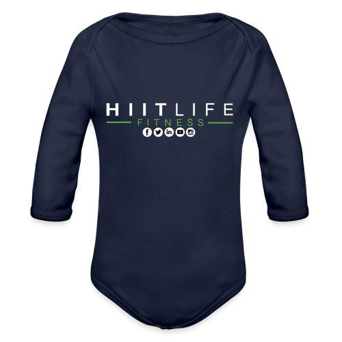 hlfsocialwht - Organic Long Sleeve Baby Bodysuit