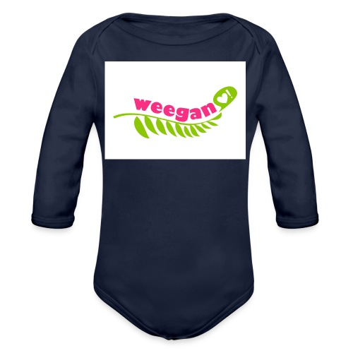 Pink Weegan - Organic Long Sleeve Baby Bodysuit