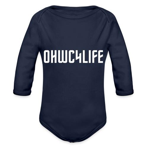 OHWC4LIFE text WH-NO-BG - Organic Long Sleeve Baby Bodysuit