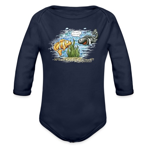 when clownfishes meet - Organic Long Sleeve Baby Bodysuit