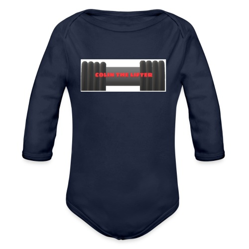 colin the lifter - Organic Long Sleeve Baby Bodysuit