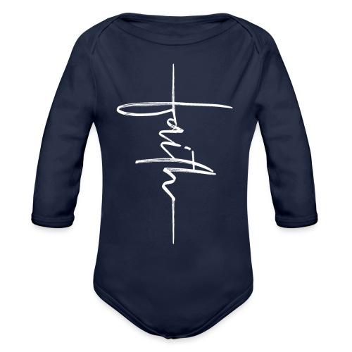 Faith - Organic Long Sleeve Baby Bodysuit