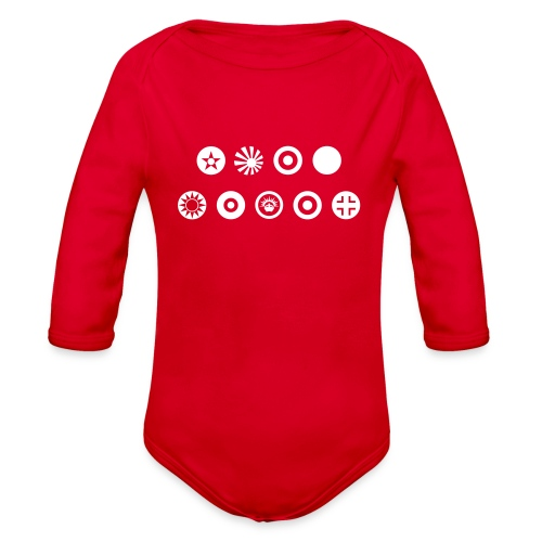 Axis & Allies Country Symbols - One Color - Organic Long Sleeve Baby Bodysuit