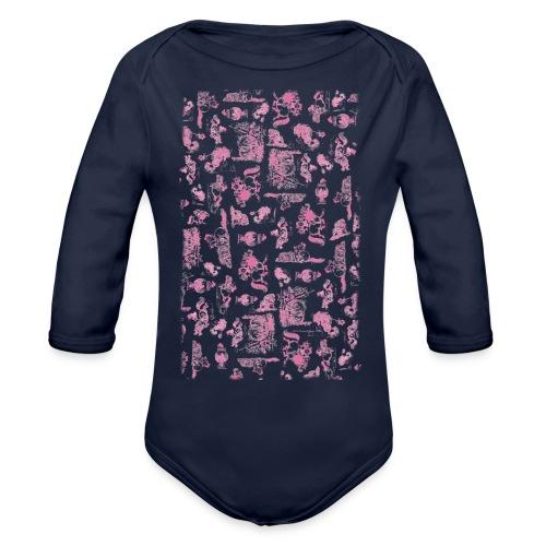 PonyCartoons Pink Thelwell Cartoon - Organic Long Sleeve Baby Bodysuit