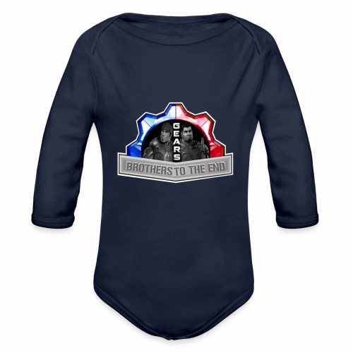 BROS TO THE END GEARS - Organic Long Sleeve Baby Bodysuit