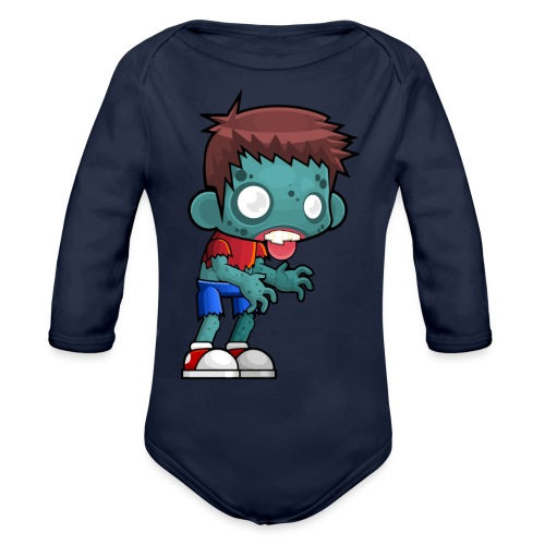 male zombie - Organic Long Sleeve Baby Bodysuit