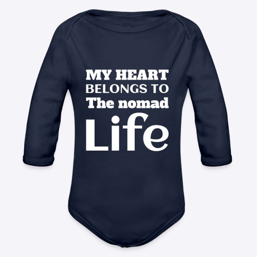 My Heart Belongs to the Nomad Life - Organic Long Sleeve Baby Bodysuit