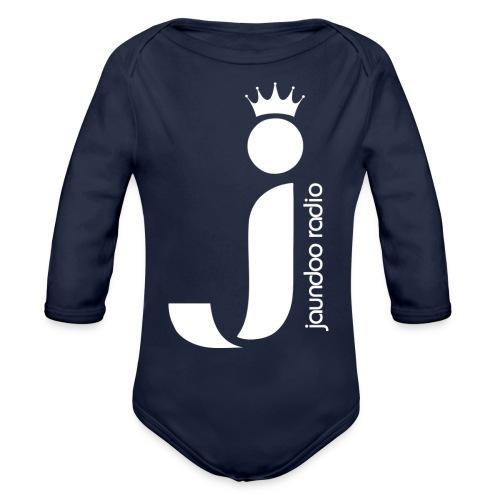 JAUNDOO RADIO LOGO - Organic Long Sleeve Baby Bodysuit