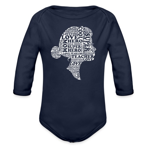 Mother Definition, Teacher Mom, Great Teacher Mom - Organic Long Sleeve Baby Bodysuit