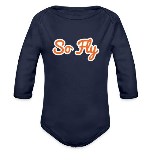 So Fly - Organic Long Sleeve Baby Bodysuit